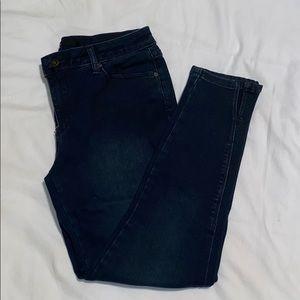 HARPER dark denim crop jean